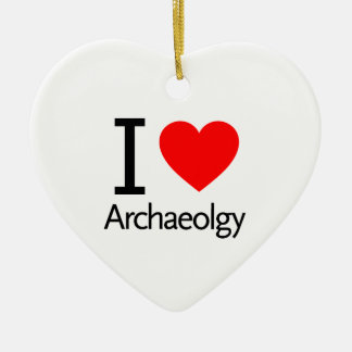 I Love Archeology Ceramic Ornament