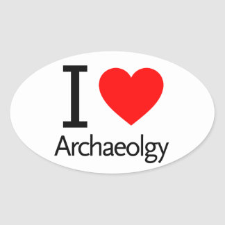 I Love Archeology Stickers