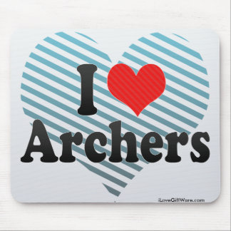 I Love Archers Mouse Pad