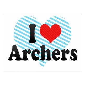 I Love Archers Postcard