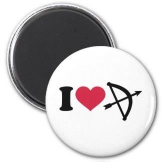 I love Archery arrow bow Magnet