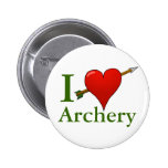 I Love Archery Badge 2 Inch Round Button