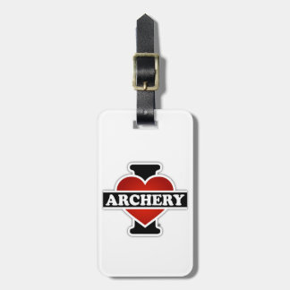 I Love Archery Bag Tag