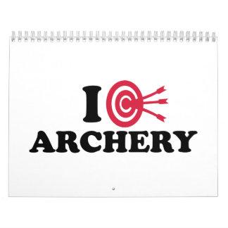 I love Archery bow arrow Calendar