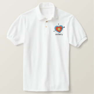I Love Archery Embroidered Polo Shirt