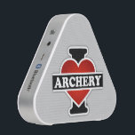 """I Love Archery Speaker<br><div class=""""desc"""">Then, why don&#39;t you take it home? THINK ABOUT IT! Believe it or not, what makes this item really exceptional and spectacular is that it&#39;s incredible, super HIGH QUALITY from upside down, as well as its PURE and ORIGINAL """"TWENTY FOUR CARAT"""" image printed on top, image which was digitally created...</div>"""
