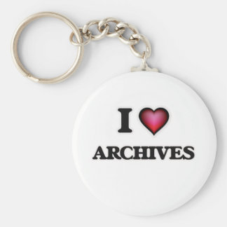 I Love Archives Keychain