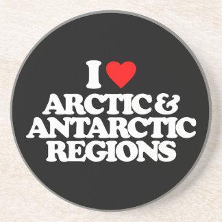 I LOVE ARCTIC ANTARCTIC REGIONS COASTER