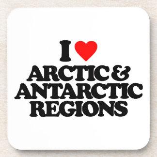 I LOVE ARCTIC ANTARCTIC REGIONS DRINK COASTER