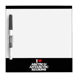 I LOVE ARCTIC & ANTARCTIC REGIONS DRY ERASE WHITEBOARDS