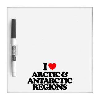I LOVE ARCTIC & ANTARCTIC REGIONS DRY ERASE WHITE BOARD