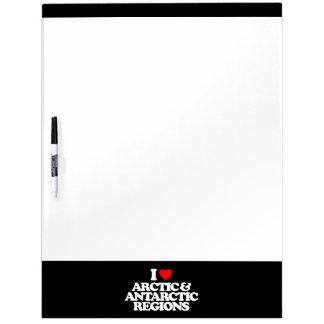 I LOVE ARCTIC & ANTARCTIC REGIONS Dry-Erase WHITEBOARDS