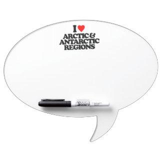 I LOVE ARCTIC & ANTARCTIC REGIONS Dry-Erase WHITEBOARD