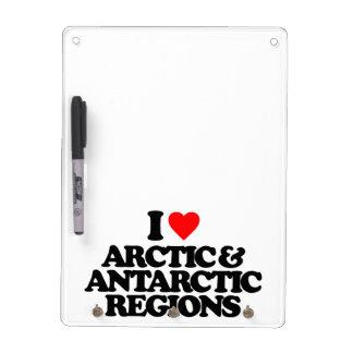 I LOVE ARCTIC & ANTARCTIC REGIONS DRY ERASE BOARD