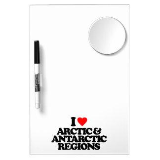 I LOVE ARCTIC & ANTARCTIC REGIONS Dry-Erase BOARDS