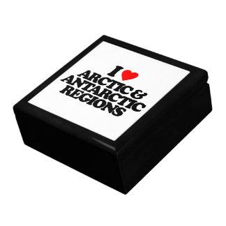 I LOVE ARCTIC & ANTARCTIC REGIONS TRINKET BOXES