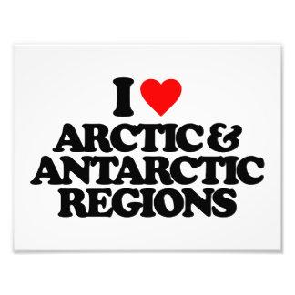 I LOVE ARCTIC & ANTARCTIC REGIONS PHOTO PRINT