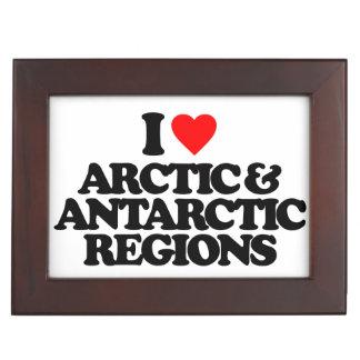 I LOVE ARCTIC & ANTARCTIC REGIONS KEEPSAKE BOX