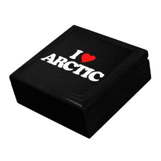 I LOVE ARCTIC KEEPSAKE BOX