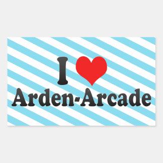I Love Arden-Arcade, United States Rectangular Sticker