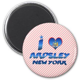 I love Ardsley, New York 2 Inch Round Magnet