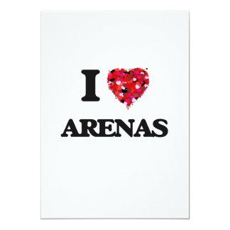 I Love Arenas 5x7 Paper Invitation Card