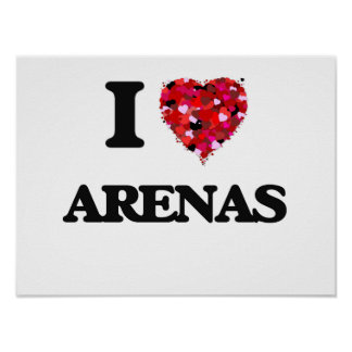 I Love Arenas Poster