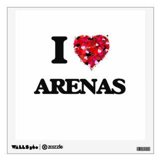 I Love Arenas Wall Graphics