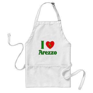 I Love Arezzo Italy Adult Apron