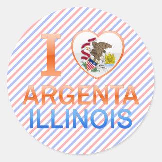 I Love Argenta, IL Round Sticker