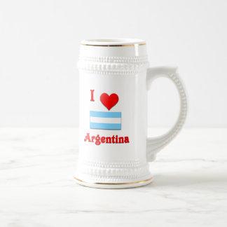 I Love Argentina Beer Stein