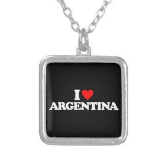 I LOVE ARGENTINA CUSTOM NECKLACE