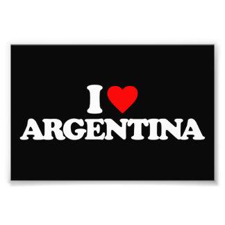 I LOVE ARGENTINA PHOTOGRAPH