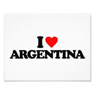 I LOVE ARGENTINA PHOTO