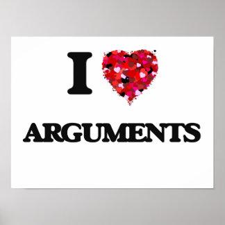 I Love Arguments Poster