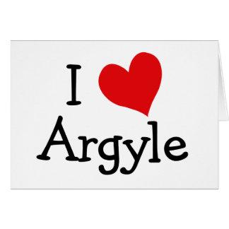 I Love Argyle Card