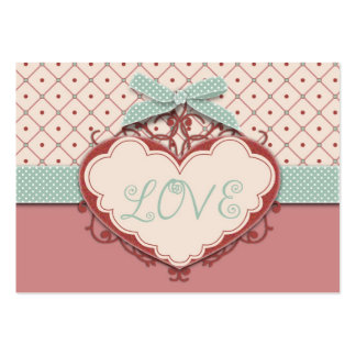 I Love Argyle Gift Tag Business Card Templates