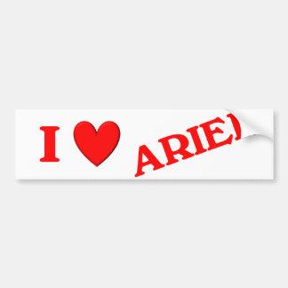 I Love Ariel Bumper Sticker