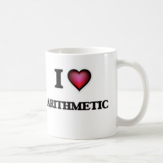 I Love Arithmetic Coffee Mug