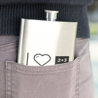 I Love Arithmetic S Hip Flask
