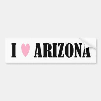 I LOVE ARIZONA BUMPER STICKER CAR BUMPER STICKER
