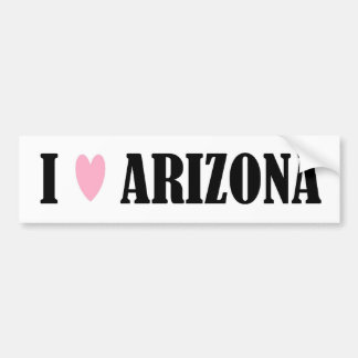 I LOVE ARIZONA BUMPER STICKER