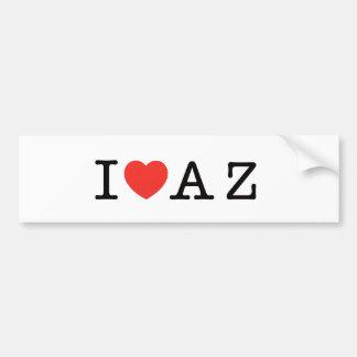 I LOVE ARIZONA CAR BUMPER STICKER