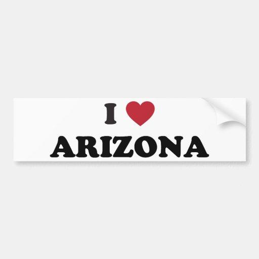 I Love Arizona Bumper Stickers