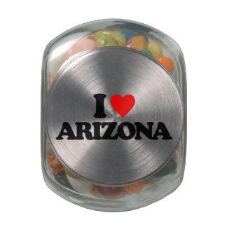 I LOVE ARIZONA GLASS JAR