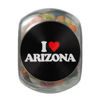 I LOVE ARIZONA GLASS JARS
