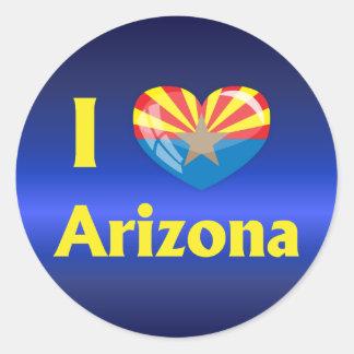 I love Arizona Classic Round Sticker
