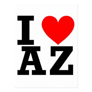 I Love Arizona Design Postcard