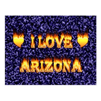 I love arizona fire and flaems postcard
