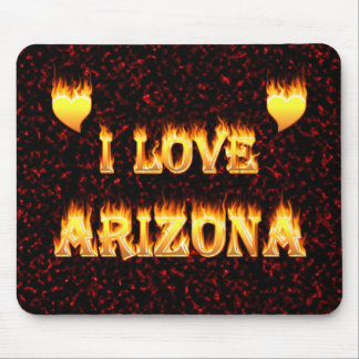 I love arizona fire and flames mouse pad